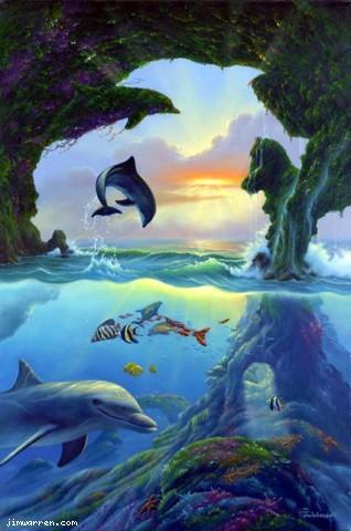 Семь дельфинов.